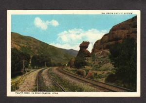 UT Pulpit Rock Train Railroad Tracks Echo Canyon UTAH