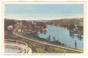 St. Francis River looking North, Sherbrooke, Province of Quebec, Canada, 10-20s