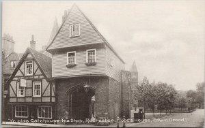Ye Olde Gatehouse Tea Shop Rochester England Unused Postcard F97