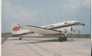 PAMFILYA DOUGLAS DC-3C 1989 Postcard antalya airport Turkey