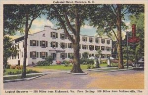South Carolina Florence Colonial Hotel