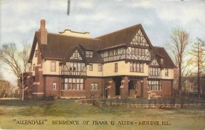 Allendale Residence of Frank G. Allen - Moline, Ill., Posted 1910