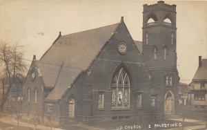 G42/ East Palestine Ohio RPPC Postcard U.P. Church Building 1909
