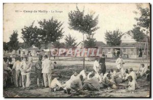 Postcard Old Army Camp Mailly Soup