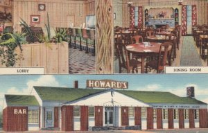 ROCK SPRINGS, Wyoming, 1930-40s; Howard's, Lobby, Dining Room and Exterior views
