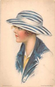 Glamorous Fashion Lady Woman, American Girl No. 101 Postcard