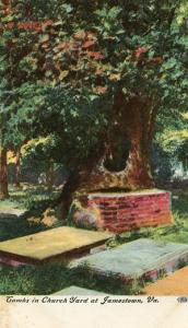 VA - Jamestown, Tombs In Churchyard