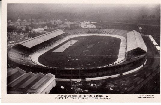 Franco-British Exhibition - Photo from Balloon of Stadium 1908