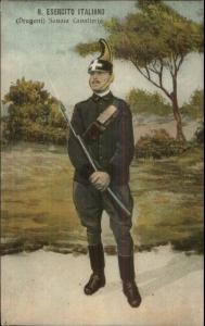 Italian Soldier in Uniform R. Esercito Italiano c1910 Postcard - Gun Bayonet