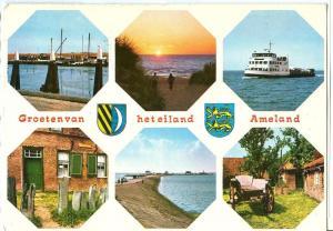 Groeten van het eiland, Ameland, 1975 used Postcard