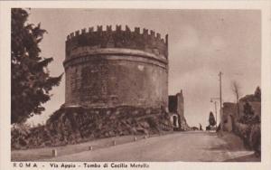 Italy Rome Via Appia Tomba di Cecilia Metella