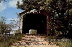 McAllister Bridge, Rockville, IN USA Covered Bridge, Bridges, Post Card Post ...