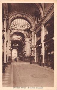 BUENOS AIRES ARGENTINA~GALERIA GUEMES~ART NOUVEAU GALLERY~FLORIDA POSTCARD 1920s