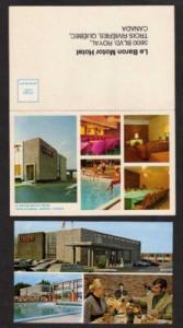 Lot 2 Le Baron Hotel TROIS RIVIERES QUEBEC Postcards PC