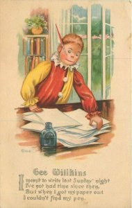 Artist C-1910 Gee Wilkins Please Write saying Gartner Bender postcard 21-1462