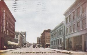 SIOUX CITY, IA,  PU-1910; Pierce St., looking North from Third St., Storefronts