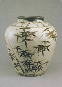 White Porcelain Jar, hand crafted in the 16th century, on display at the Nati...