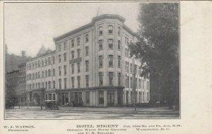 WASHINGTON DC, 1900-10s ; Hotel Regent, Opposite White House Grounds