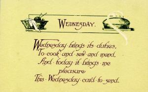 Greeting - Wednesday.  (© 1913 Graphic Art Co., KX-4)