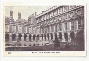 UK London Hampton Court Palace Fountain Vtg G&P Postcard