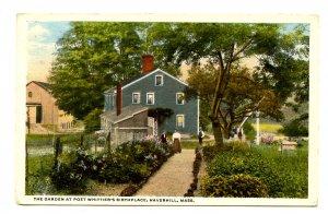MA - Haverhill. Birthplace of John Greenleaf Whittier, The Garden