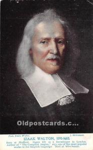 Izaak Walton 1593-1683 Auhor of The Compleat Angler 1653 Unused