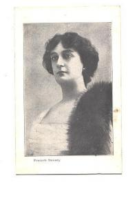 Woman with Fur Stole, French Beauty, USA card