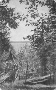 Seattle Washington~Madrona Park View~Unique Wooden Pavilion & Walkway~c1905 Pc