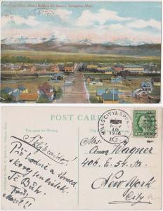 USA Postcard - 1916 Bird's Eye View, Mount Baldy in Distance