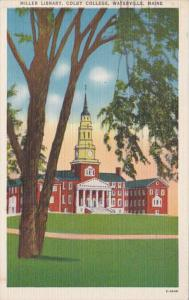 Maine Waterville Miller Library Colby College 1951