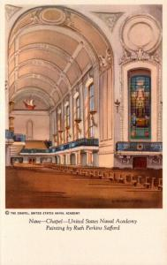 Maryland Annapolis U S Naval Academy Chapel Nave Painting By Ruth Perkins Saf...