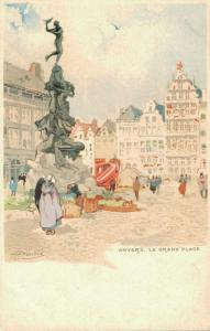 Artist Signed H.CASSIERS Anvers La Grand Place 01.81