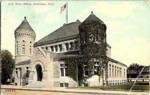 U. S. Post Office Atchison Kan. Kansas Vintage Postcard Standard View Card