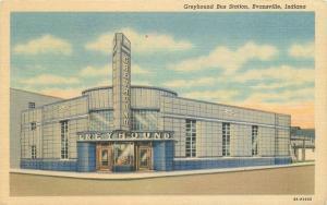 Bus Station Deco Architecture 1940s Greyhound Lode News Teich linen 6832