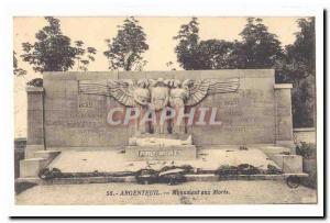 Argenteuil Old Postcard Memorial