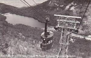 New Hampshire Franconia Notch Cannon Mountain Aerial Tramway Real Photo RPPC