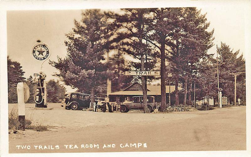 Standish ME Texaco Gas Station Two Trails Restaurant Old
