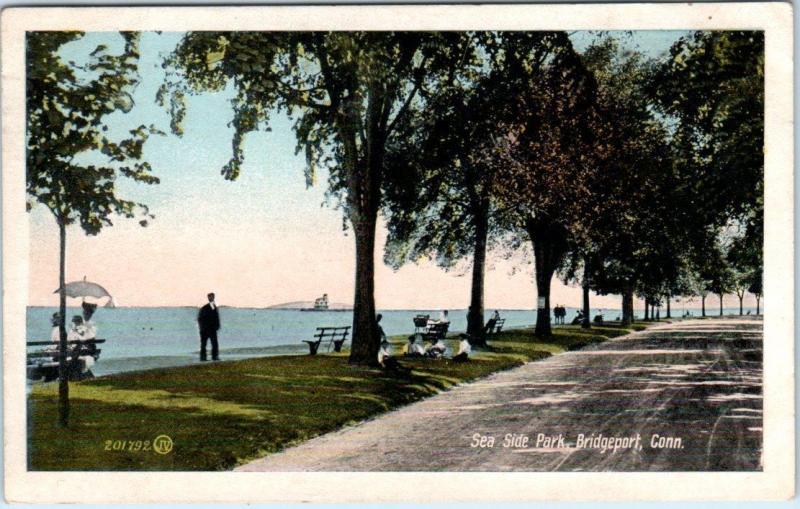 BRIDGEPORT, Connecticut  CT    SEA SIDE PARK  1918  Postcard