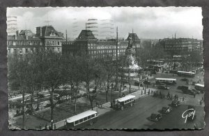5304 - FRANCE Paris 1949 Place de la Republique Real Photo Postcard Italy Canada