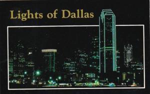 Texas Dallas Downtown At Night