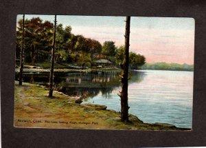 CT Mohegan Park at Lake Norwich Conn Connecticut Vintage Postcard PC