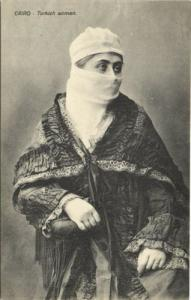 egypt, CAIRO, Turkish Woman, Niqab (1910s)