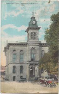 1930 LISBON Ohio Postcard COLUMBIANA COUNTY COURT HOUSE