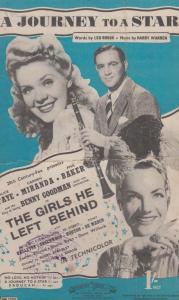 A Journey To A Star Benny Goodman 1940s Sheet Music