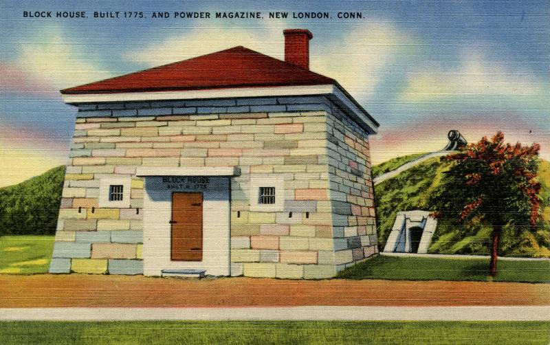 CT - New London - Block House and Powder Magazine