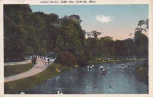 Detroit Detroit Canal Scene Belle Isle