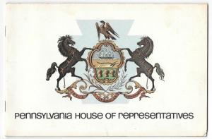 Pennsylvania House of Representatives 1979 Souvenir Booklet