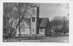 Mechanicsville Iowa~United Methodist Episcopal Church~RPPC 1910 Postcard