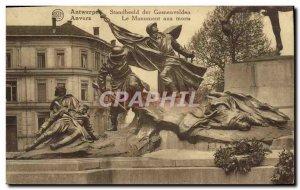 Old Postcard Antwerp Memorial Militaria