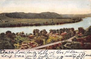 East Liverpool Ohio~River View~Birdseye Homes~Highway Bridge~1906 Postcard
